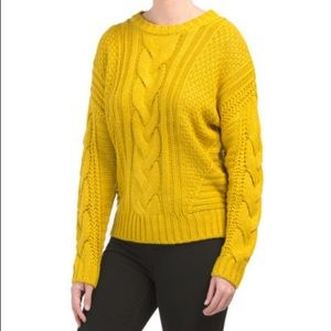 Brand new cable knit sweater